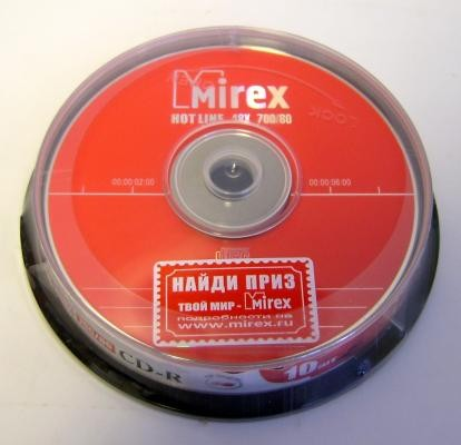 К/д Mirex Hotline CD-R80/700MB 48x БОКС10шт.
