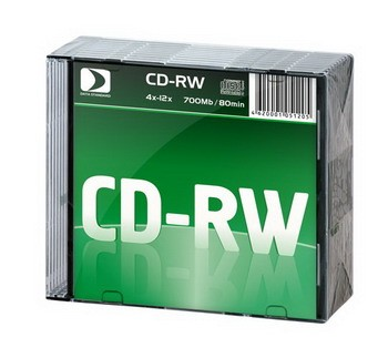 К/д Data Standard CD-RW80/700MB 12x 10 Slim