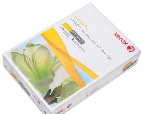 Бумага для цв.лазер.печ. XEROX COLOTECH PLUS (А4,250г,170CIE%) пачка 250л.