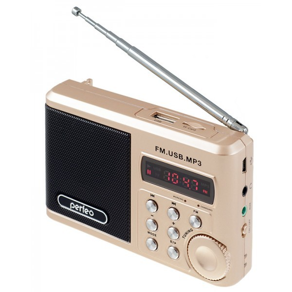 Радиоприемник Perfeo Sound Ranger, УКВ+FM, MP3 (USB/TF), USB-audio, BL-5C 1000mAh, шамп.зо (SV922AU)